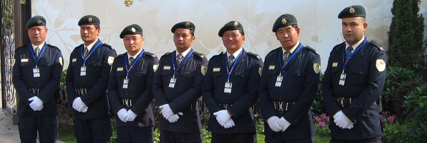 security personnel gurkha guard from nepal